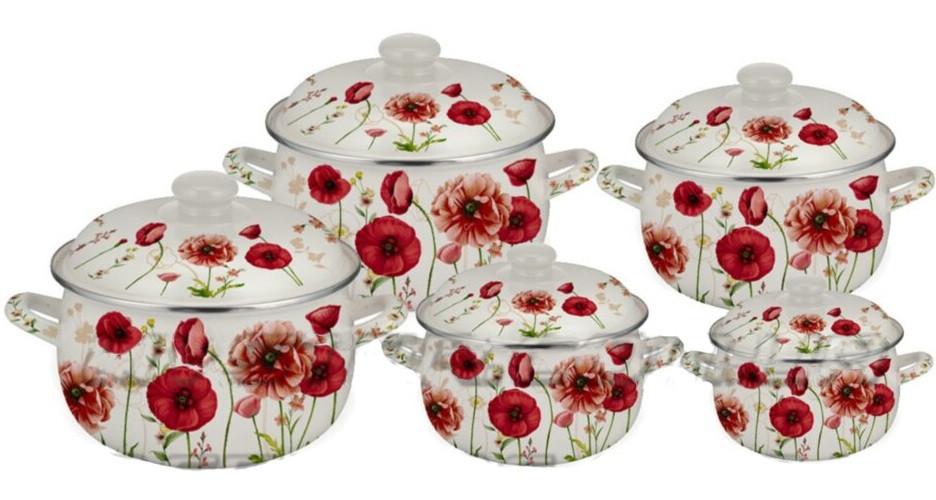 Набор эмалированной посуды Edenberg EB-1875 10 предметов