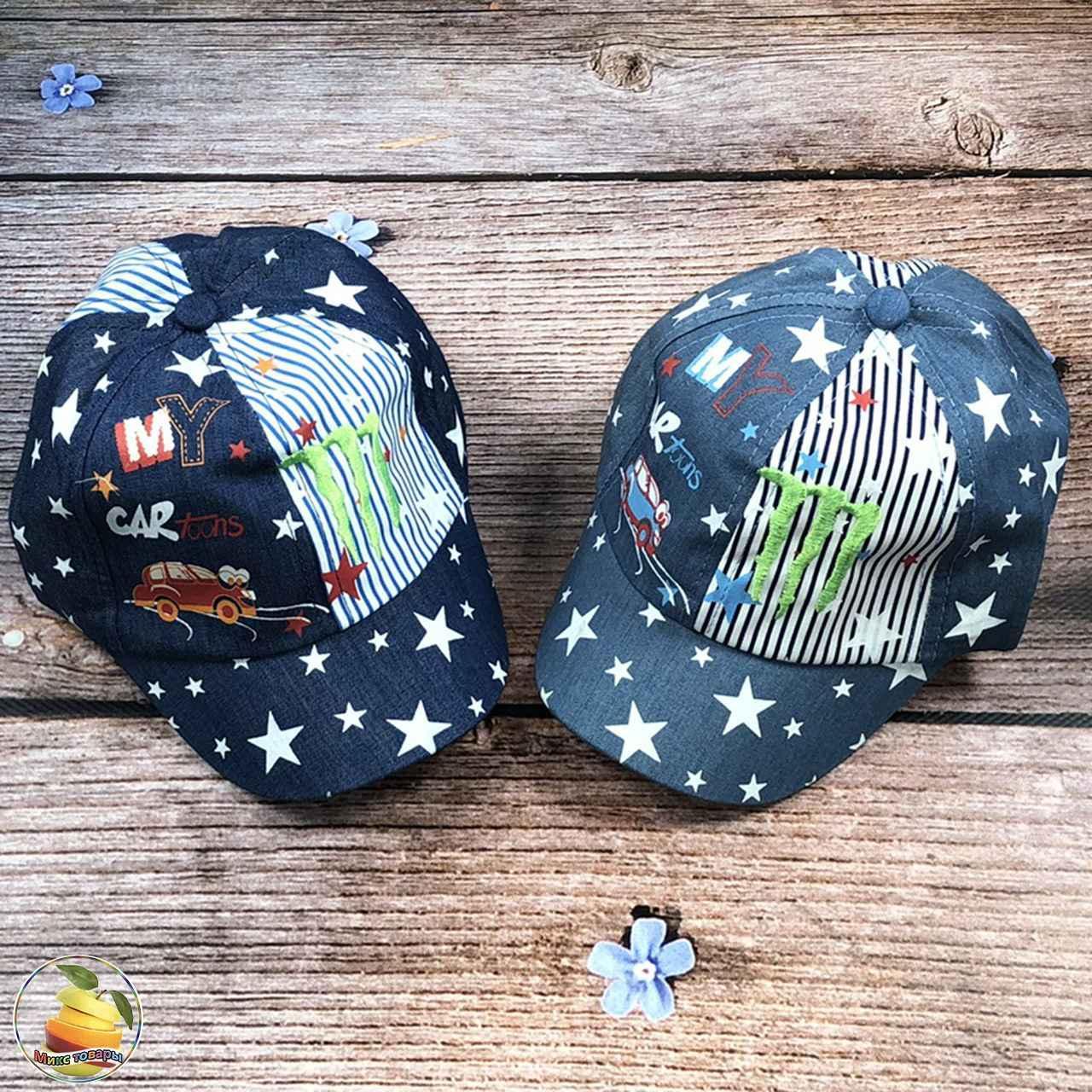 Джинсовые кепки для малышей (объём 50 см) (3109)