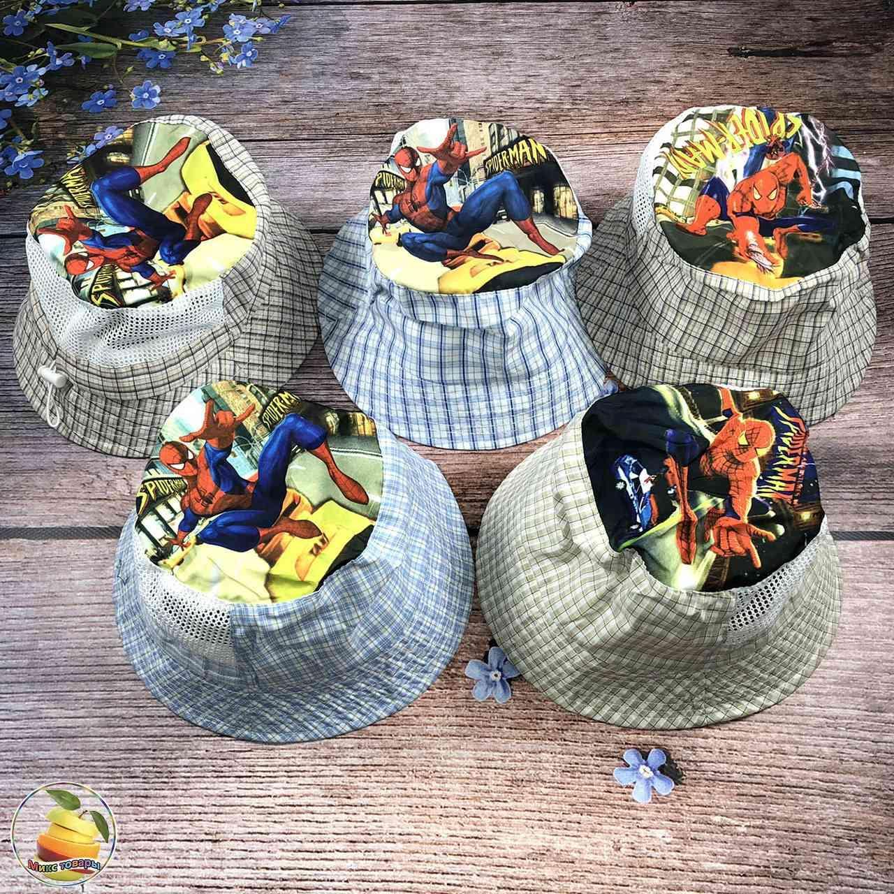 """Детская панамка """"Человек паук"""" для мальчиков (объём 52 и ..."""