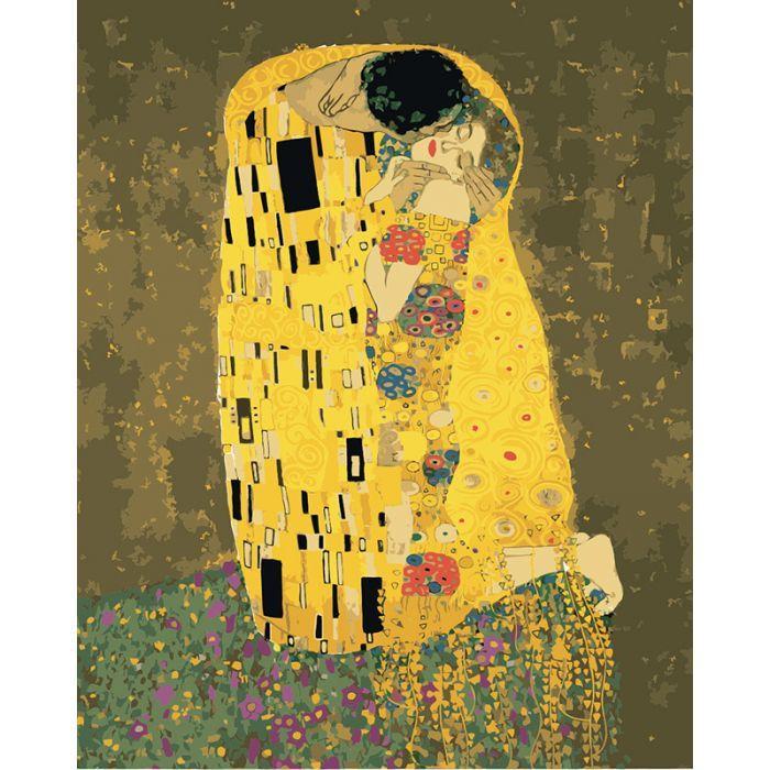 Картина по номерам Аура поцелуя  Густав Климт ТМ Идейка 40 х 50 см КНО4534