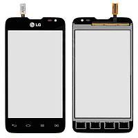 Touchscreen (сенсорный экран) для LG Optimus L65 Dual SIM D285, оригинальный (черный)
