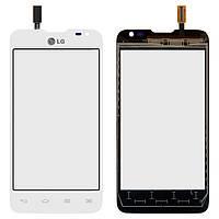 Touchscreen (сенсорный экран) для LG Optimus L65 Dual SIM D285, белый, оригинал