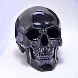 Череп человека декоративный черный в натуральную величину, фото 2