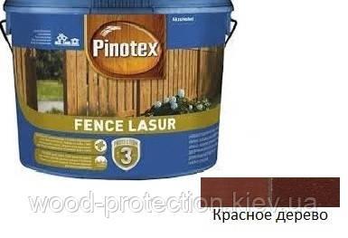 Просочення для захисту деревини Pinotex Fence Lasur червоне дерево 5л.