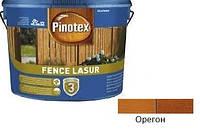 Деревозащита для пиленых деревянных поверхностей Pinotex Fence Lasur орегон 10л