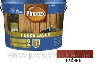 Деревозащита для пиляних дерев'яних поверхонь Pinotex Fence Lasur горобина 10л.