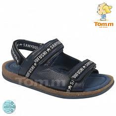 Детские синие сандали на липучках Tom.m, р.35,37
