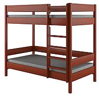 Детская подростковая двухьярусная кровать LukDom Diego 200х90 Темный орех
