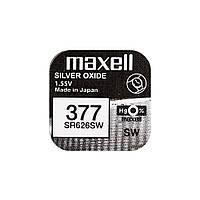 Часовая батарейка Maxell 377 / SR 626 SW / AG4 (1шт.), фото 1