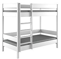 Кровать для детей и подростков Двухэтажная LukDom Diego 200х90 Белая