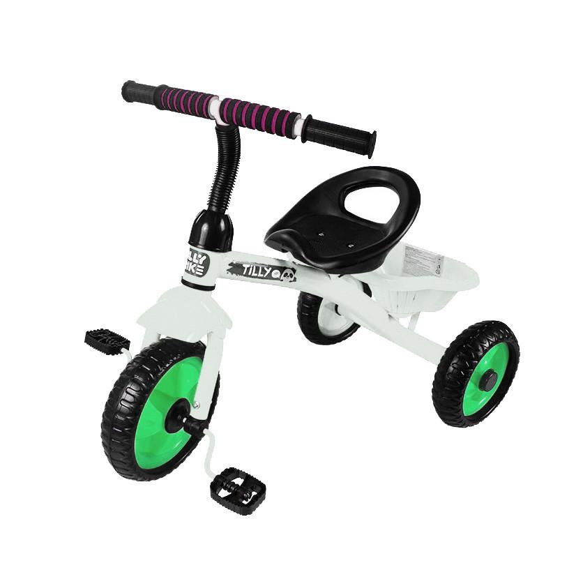Триколісний дитячий велосипед з кошиком Tilly Trike RAPID T-315 Білий, EVA колеса