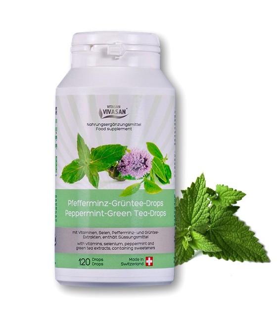Зеленый чай с мятой перечной в таблетках / Peppermint - Green Tea - Drops
