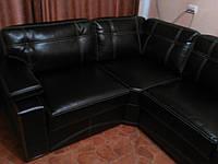 Угол кожаный для гостевой и офиса. Мебель на заказ Днепр.