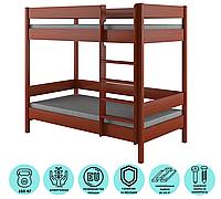 Подростковая двухьярусная кровать  с выдвижными ящиками LukDom Diego 180х90 Темный орех