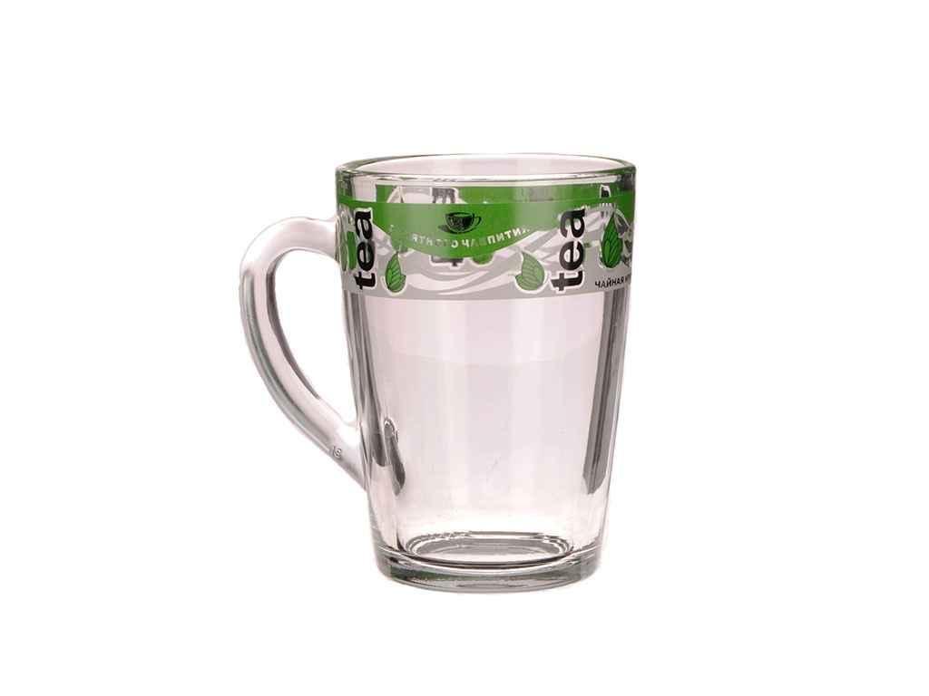 Кружка капучіно 300мл Зелений чай 07с1334 20шт/уп