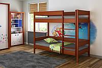 Двухьярусная кровать для детей с выдвижными ящиками LukDom Diego 160х80 Темный орех