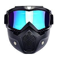 Мотоциклетная маска-трансформер! очки, лыжная маска, для катания на велосипеде или квадроцикле