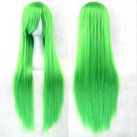 Длинные зеленые парики - 80см, прямые волосы, косплей, анимэ