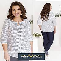 Женская блуза большого размера с коротким рукавом 50 52 54 56