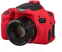 Защитный силиконовый чехол для фотоаппаратов Canon EOS 750D  - красный, фото 1