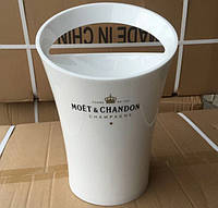 Ведро для шампанского Moët & Chandon. Кулер для льда Моет Шандон. Белое