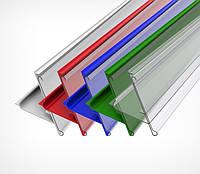 Ценникодержатель стеллажный HL Display UT синий, держатели для ценников 1235*39мм б/у