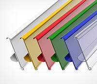 Ценникодержатель стеллажный HL Display TEN зеленый, держатели для ценников 1315*56мм б/у