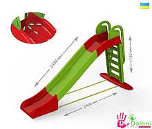 Гірка для катання дітей спуск 243 см зелена Долони Doloni детская горка 014550/1