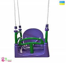 Гойдалка Качеля фіолетова 0152/5 Долони Doloni 3в1