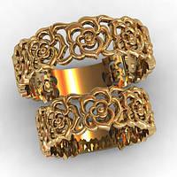 """Обручальное кольцо """"Роза"""" 585 пробы"""