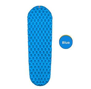 Коврик надувной туристический , матрас lighttour (овал) Синий.