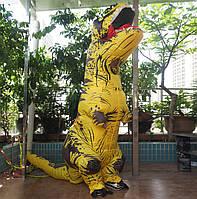 Надувной костюм Тираннозавра, T Rex косплэй, костюм динозавра T-Rex. Тиранозавр надувной (желтый)