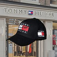 Мужская стильная Бейсболка кепка  Tommy Hilfiger (томми хилфигер) черная