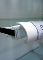 Ценникодержатель на стеклянные полки с С-образным профилем б/у длина 400 мм. Профиль для стеклянных полок