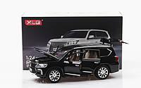 Масштабная модель автомобиля Lexus Lx570 1:24. Звук+свет эффекты. Металлическая машинка. Инерционная машинка.