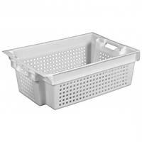 Пластиковый контейнер для продуктов перфорированный 600х400х200мм б/у