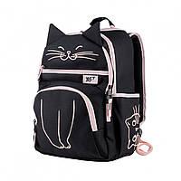 Рюкзак для средней школы с кошкой YES S-39 20л Meow Черный (558338)(2000558338004)