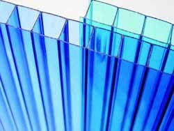 Сотовый поликарбонат Marlon 4 мм прозрачный (Англия)