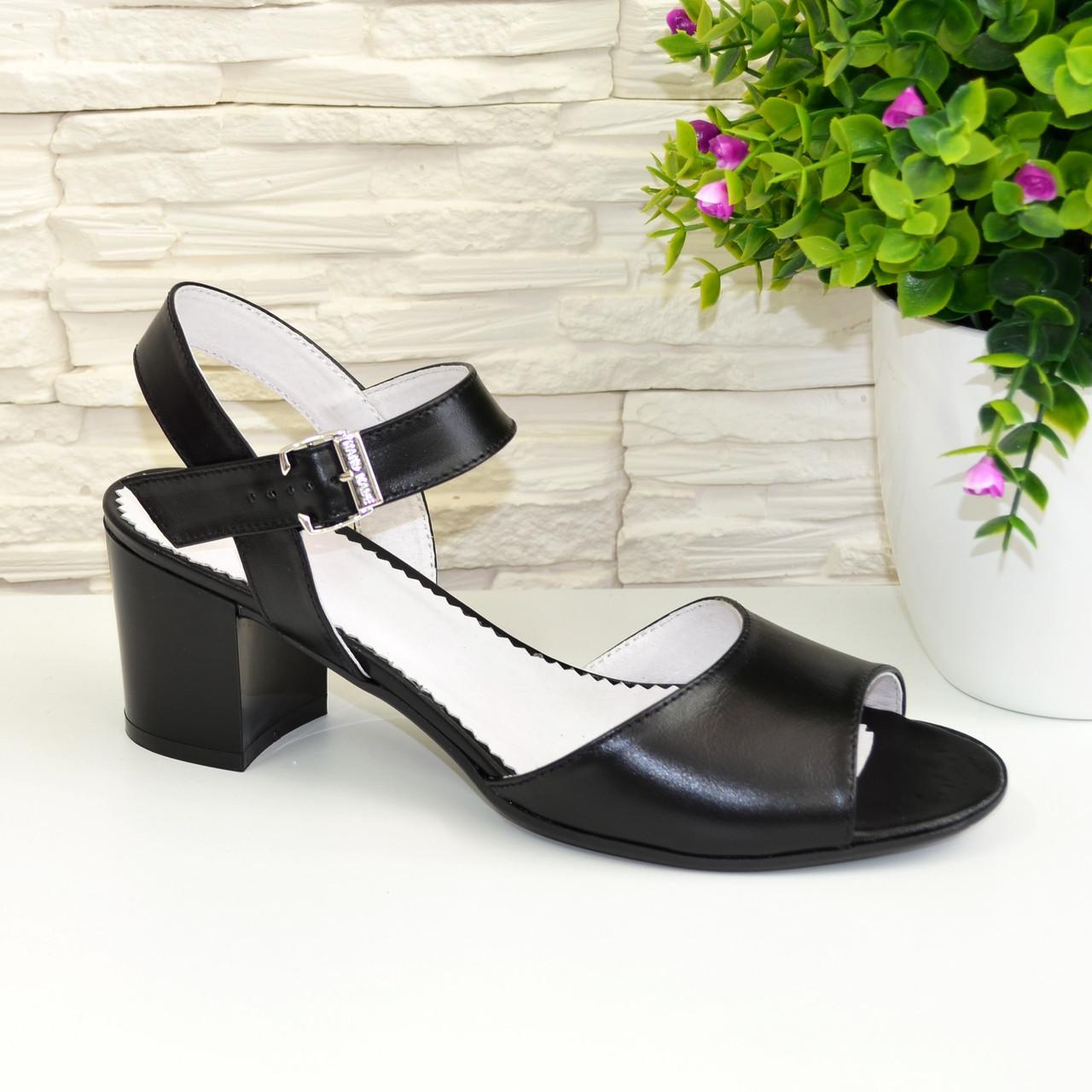 Босоножки женские кожаные Vasha Para 1327/1 39 цвет черный