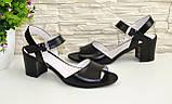 Босоножки женские кожаные Vasha Para 1327/1 39 цвет черный, фото 3