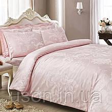Комплект  постельного белья  жаккард 200*220 TM  Tivolyo Home Arredo pembe