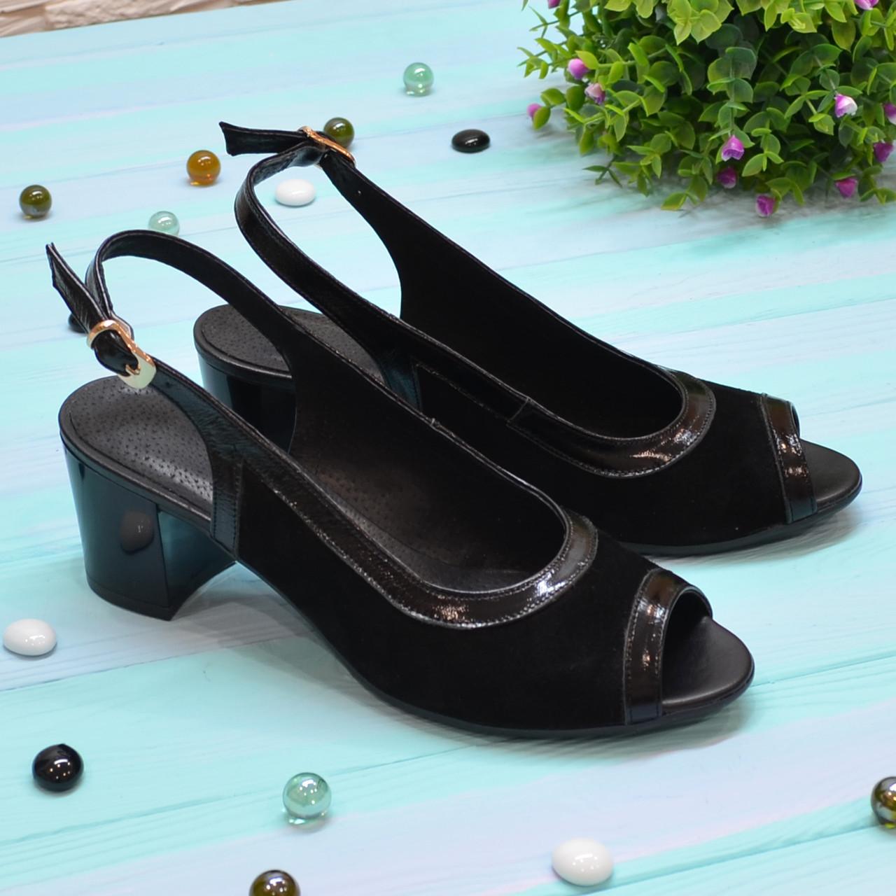 Босоножки замшевые женские Vasha Para 1333 38 цвет черный