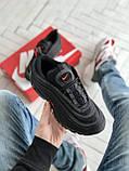 Мужские кроссовки Nike Air Max 97 в стиле найк аир макс черные (Реплика ААА+), фото 3