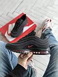 Мужские кроссовки Nike Air Max 97 в стиле найк аир макс черные (Реплика ААА+), фото 4