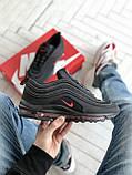 Мужские кроссовки Nike Air Max 97 в стиле найк аир макс черные (Реплика ААА+), фото 5