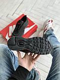 Мужские кроссовки Nike Air Max 97 в стиле найк аир макс черные (Реплика ААА+), фото 7