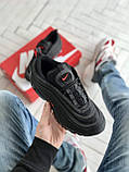 Женские кроссовки Nike Air Max 97 в стиле найк аир макс черные (Реплика ААА+), фото 2