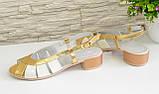 Босоножки кожаные женские Vasha Para 1351/2 40 цвет золото/бежевый, фото 5
