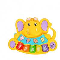 Пианино детское 855-28A (Желтый)