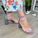 Босоножки женские Vasha Para 1374 38 цвет лиловый/лазер, фото 2